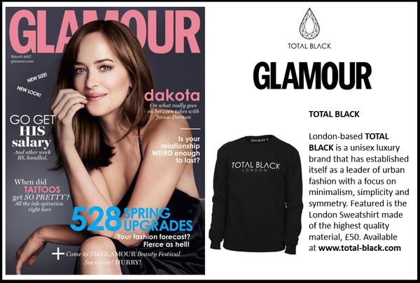 TOTAL BLACK X GLAMOUR MAGAZINE UK