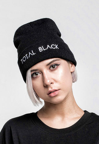 BLACK BEANIE for Her