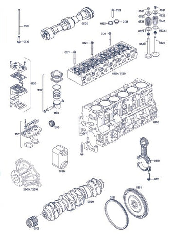 SPARE PARTS FOR D0836 (6 cylinder)