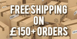 October – Free Shipping On Orders Over £150
