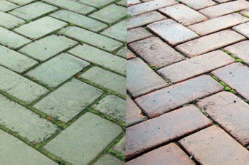 How To Clean Paving Slabs Using Patio Wizard Mould And Algae Remover