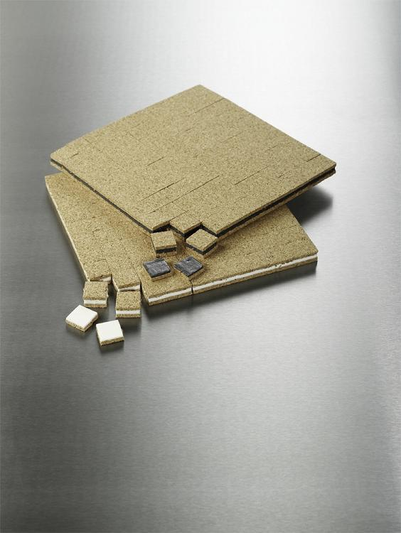 Cork & Foam Transport Glazing Pads - White - 40,000 x 19mm x 19mm x 6mm pads