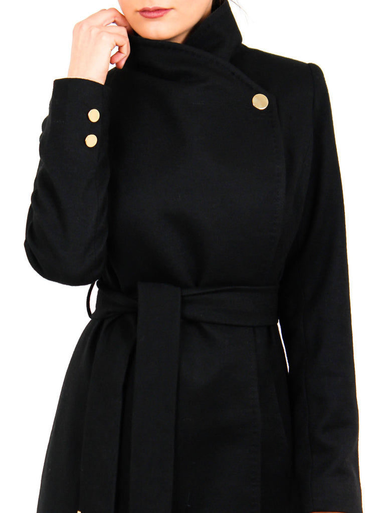 Maxi Coat North - Black -  - Nesci Fashion - modest - 3