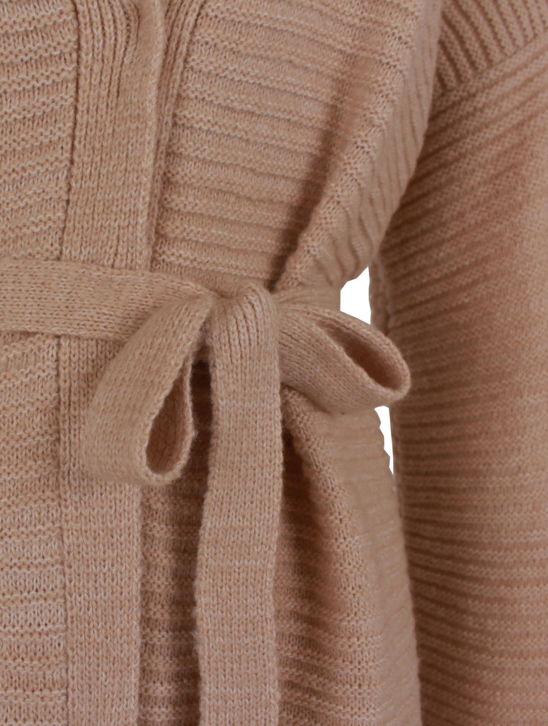 Bonsai Belted Cardigan - Beige -  - Nesci Fashion - modest - 2