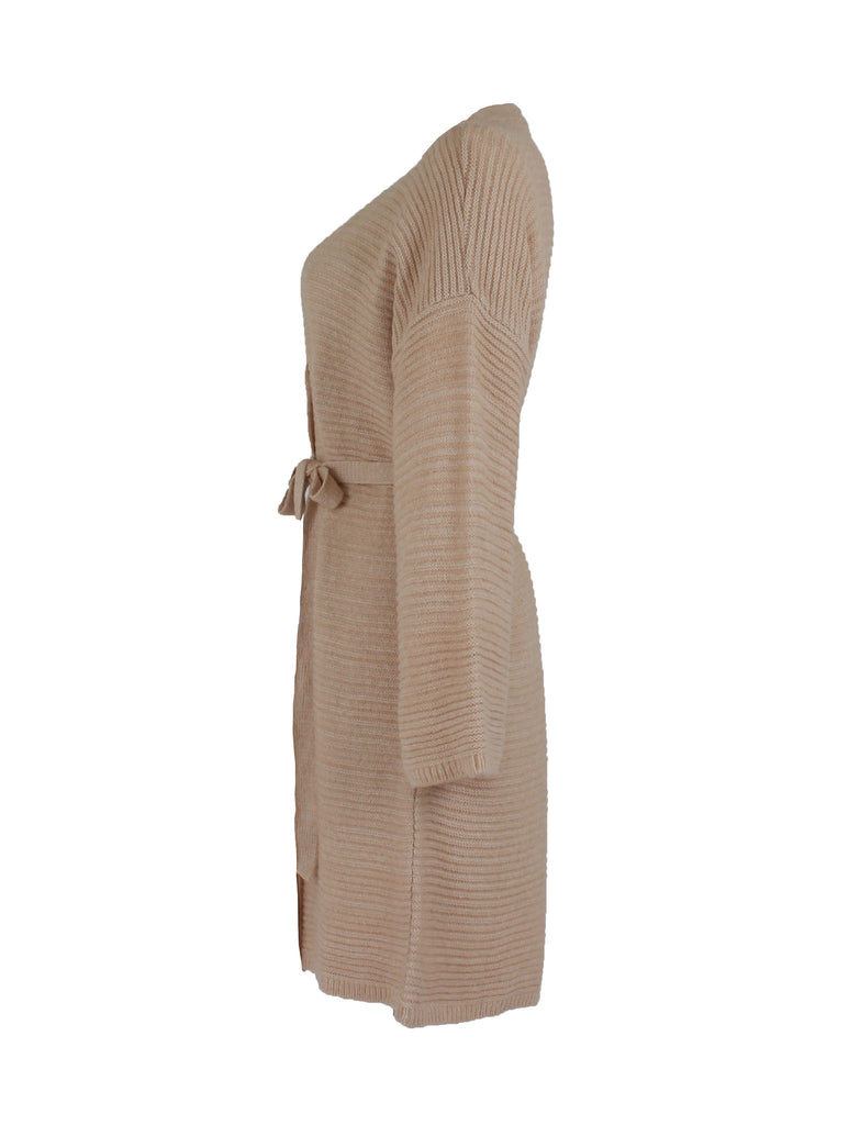 Bonsai Belted Cardigan - Beige -  - Nesci Fashion - modest - 3