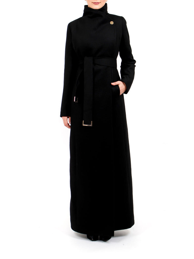 Maxi Coat North - Black -  - Nesci Fashion - modest - 1