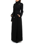 Maxi Coat North - Black -  - Nesci Fashion - modest - 2
