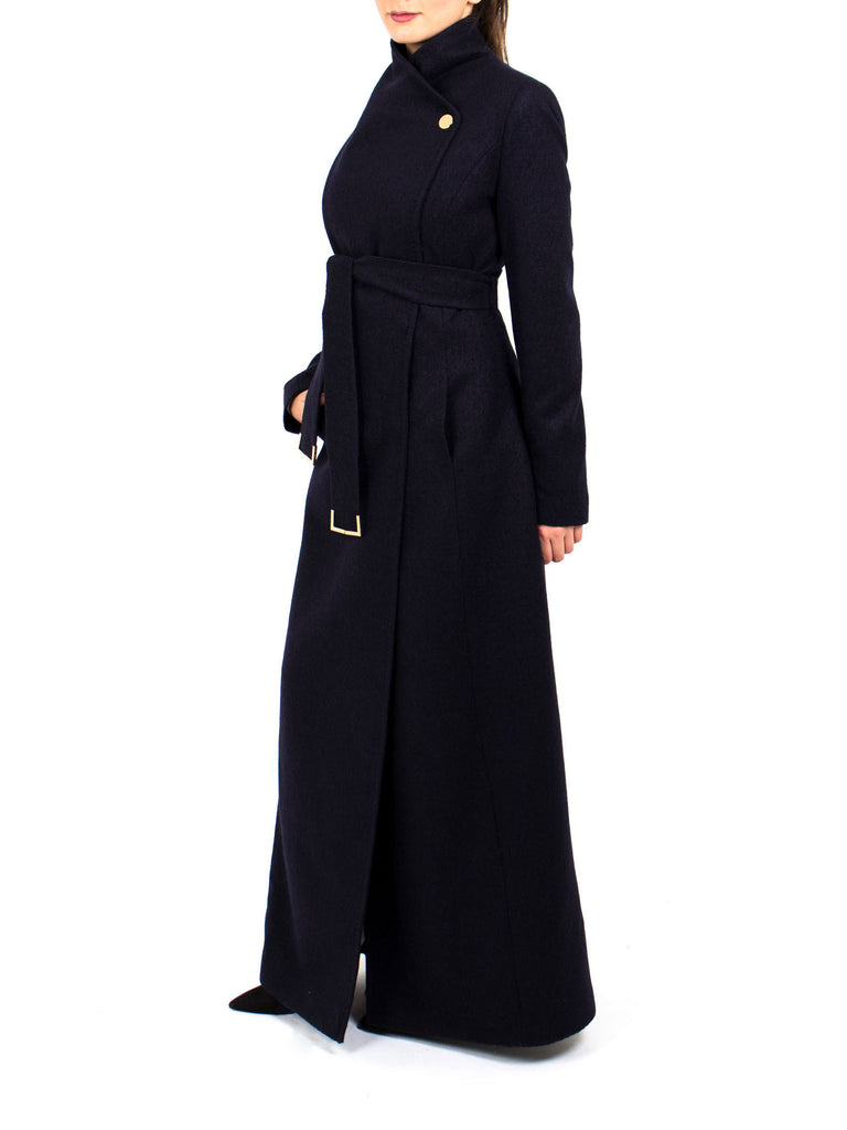 Maxi Coat North - Navy -  - Nesci Fashion - modest - 1