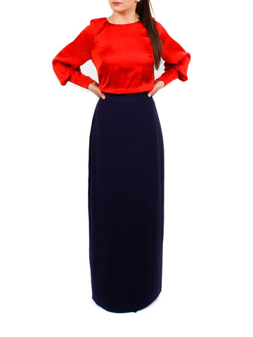 Silva Ombre Skirt - Navy