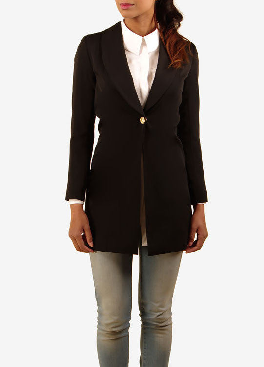 Sunflower Blazer - Black -  - Nesci Fashion - modest - 2