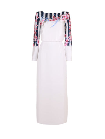 White Garden Dress - Sea Sand