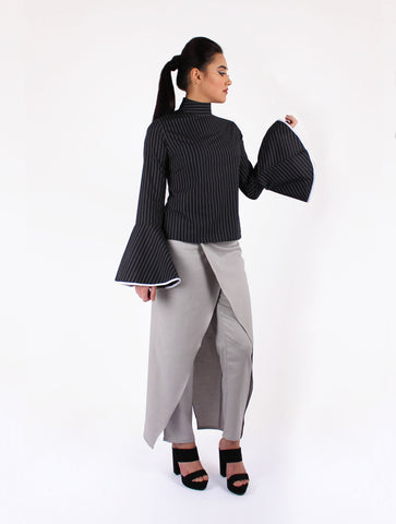 Vici Skirt Pants  - Black