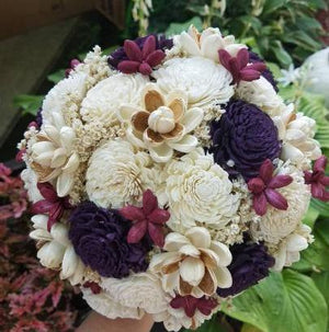 Plum and Berry Woodland Bouquet