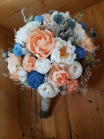 Dusty Blue Field Bouquet