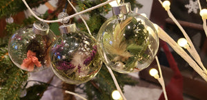Yule-Inspired Glass Ornaments