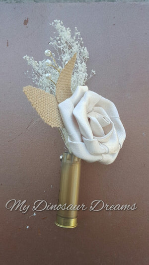 Shotgun Shell Rose Boutonniere