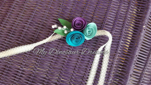 Paper Rose Corsage