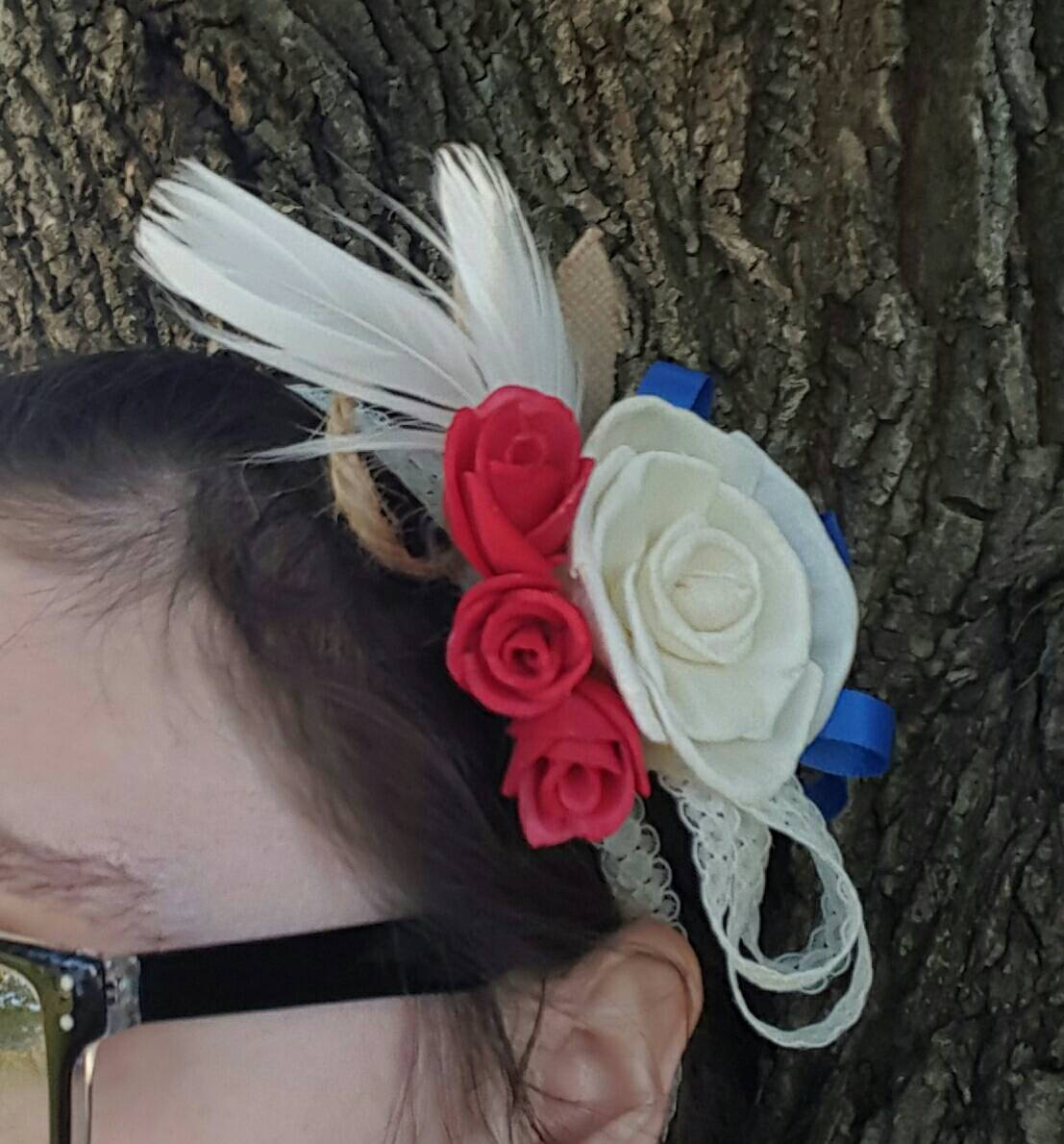 Red, White, and Blue Corsage