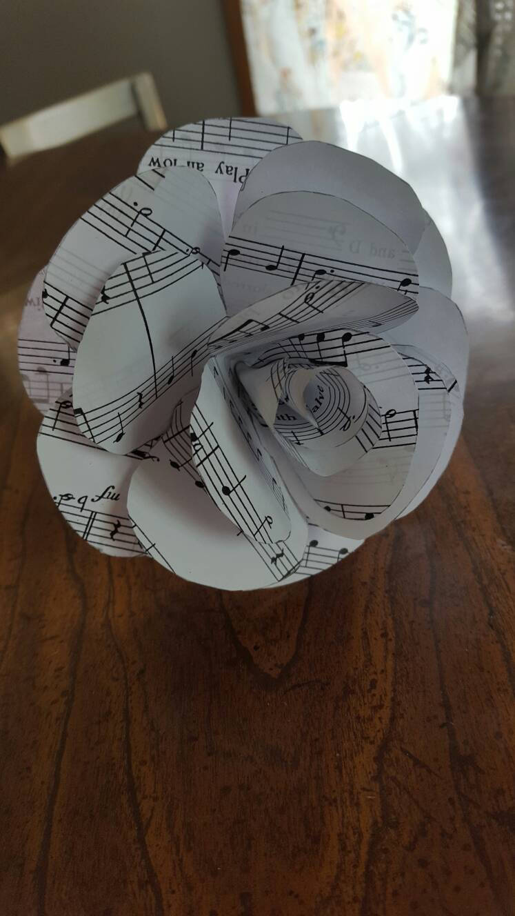 Sheet Music Single Rose