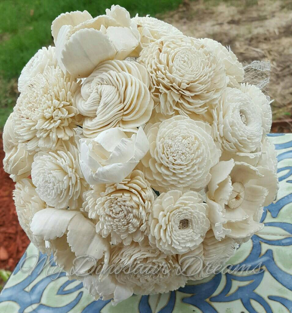 All Natural Wooden Flower Bouquet