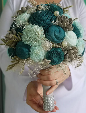 Sea Green Sunset Bouquet
