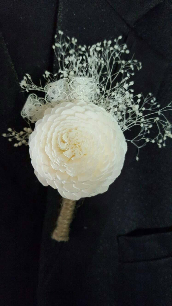 Jasmine and Lace Boutonniere