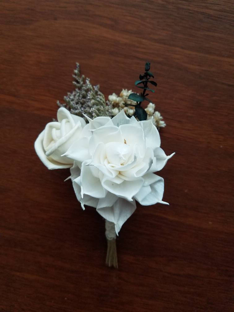 Dahlia and Rose Boutonniere
