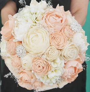 Blush and Ivory Hydrangea Bouquet
