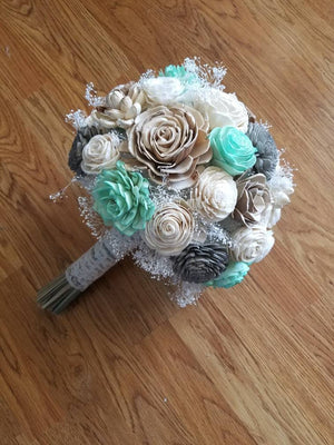 Mint and Grey Bouquet