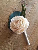 Silver Dollar Boutonniere