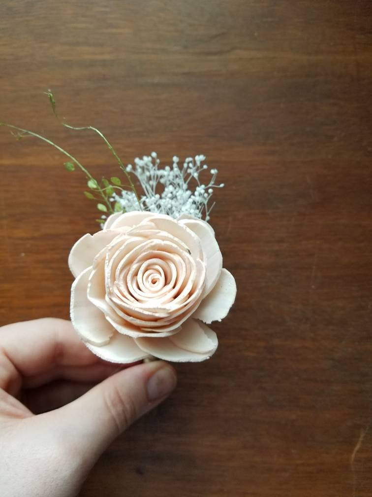 Blush Rose Boutonniere