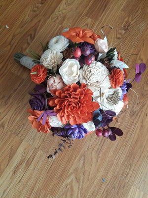 Plum Orange Harvest Bouquet