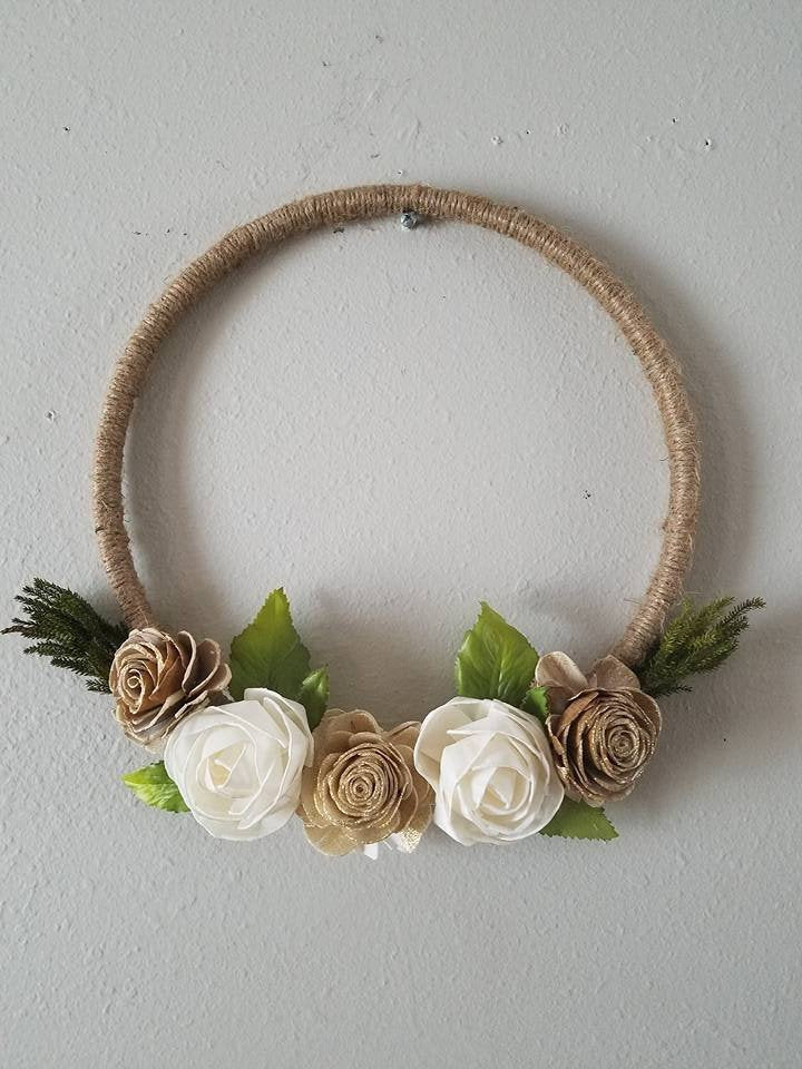 Rustic Gold Hoop Wreath
