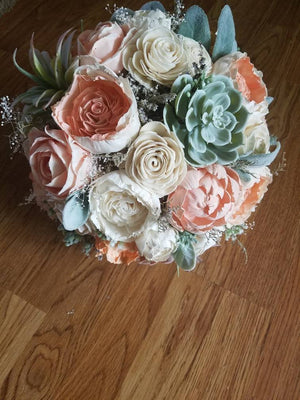Peachy Succulent Bouquet