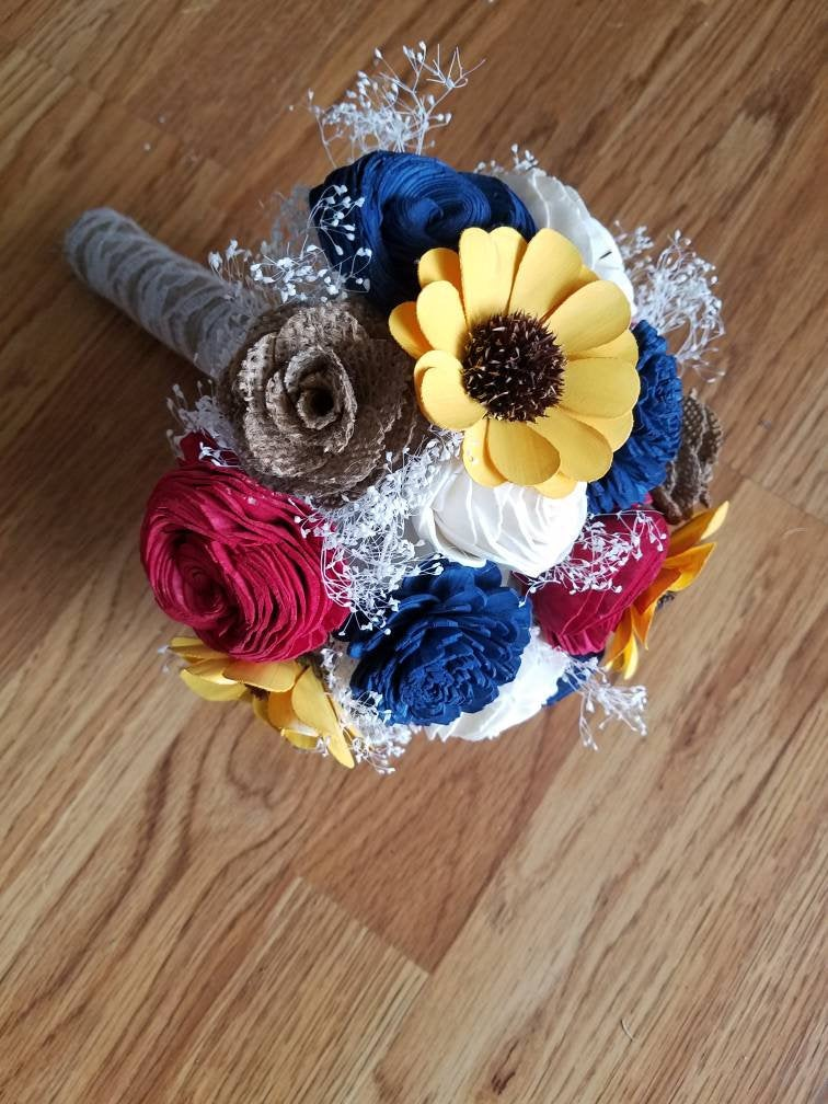 Red, White, And Blue Sunflower Bouquet