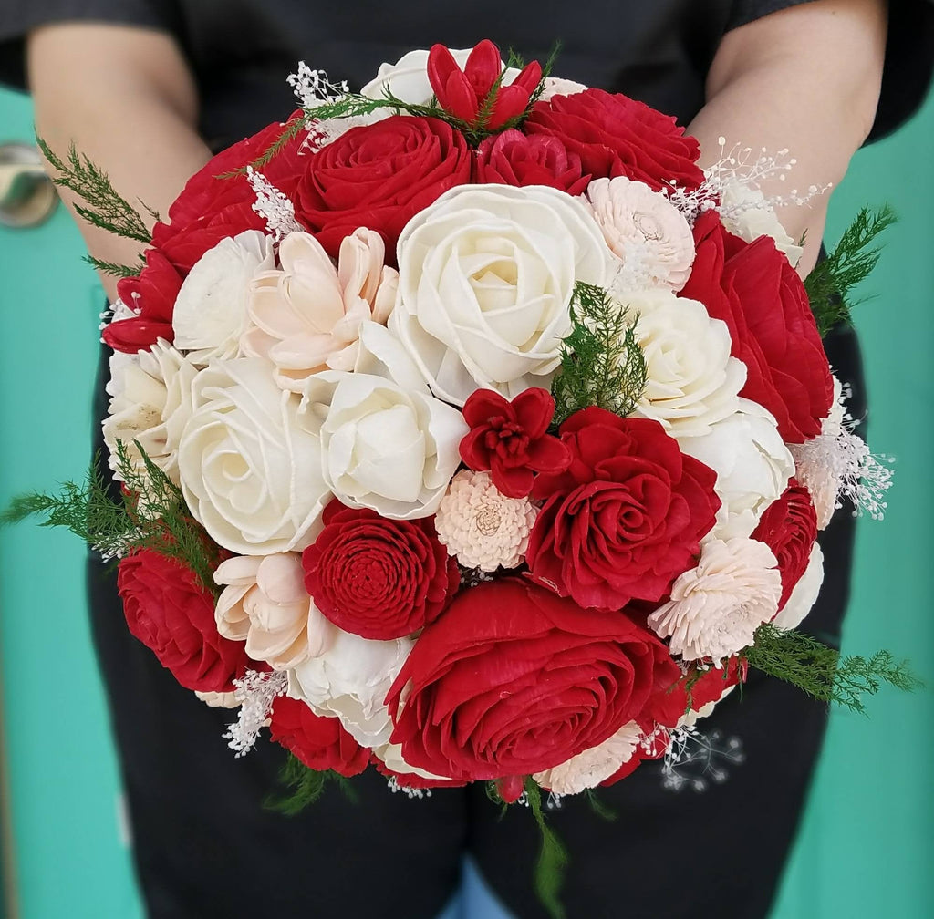 Red Rose and Blush Bouquet