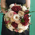 Burgundy and Blush Fall Sunflower Sola Flower Bouquet