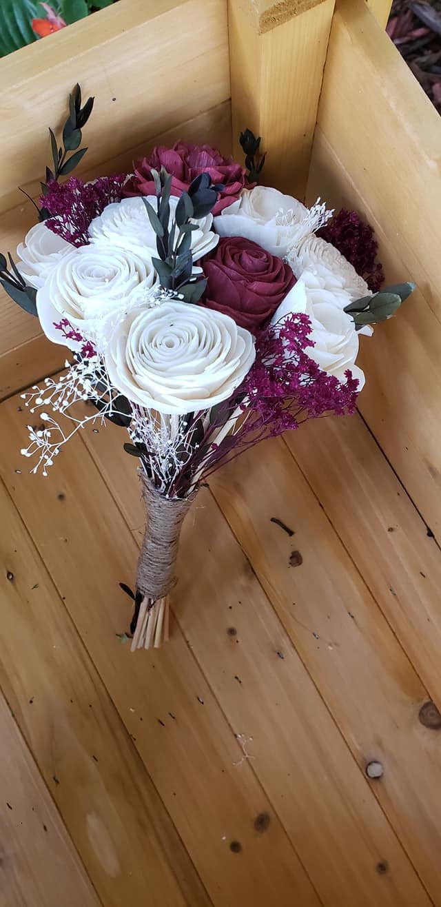 Mini Burgundy Bamboo Bouquet