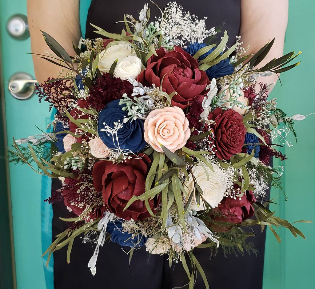 Burgundy, Blush, and Navy Phoenix Bouquet