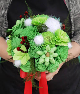 Green Green Green Christmas Bouquet