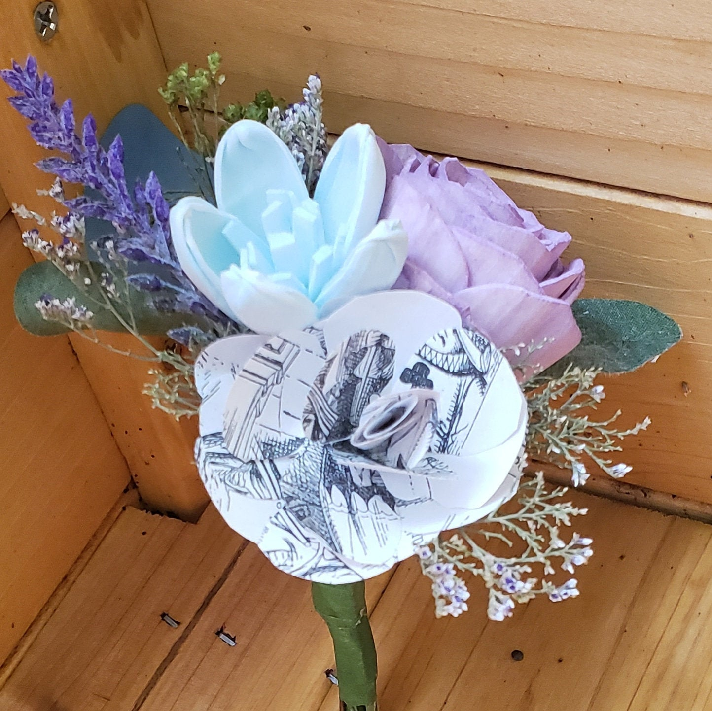 Book Flower Boutonniere