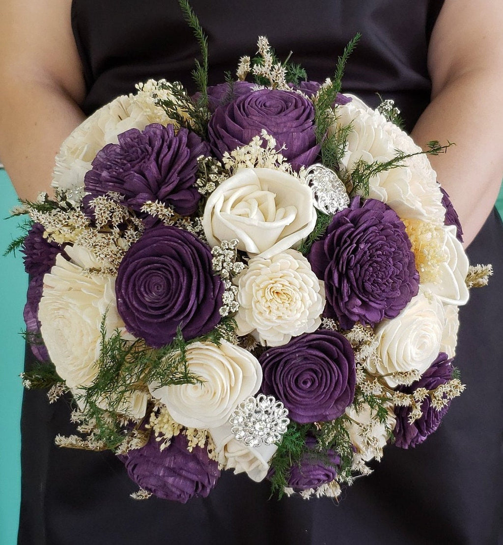 Dark Plum Purple Bouquet