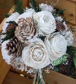 Pinecone and Bark Winter Bouquet