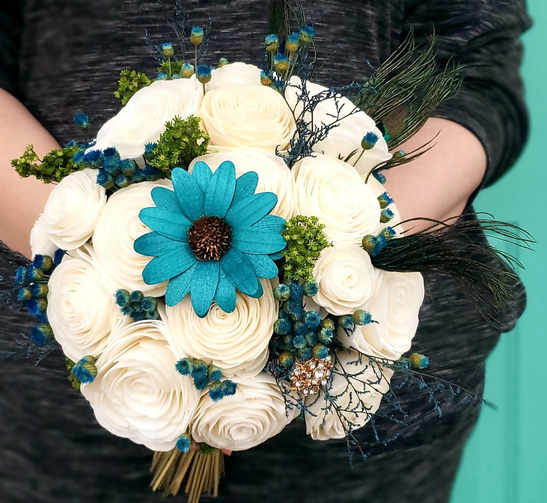 Peacock Teal Bouquet