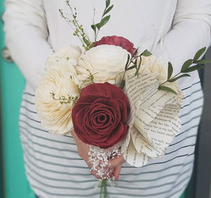 Whimsical Book Flower Bouquet