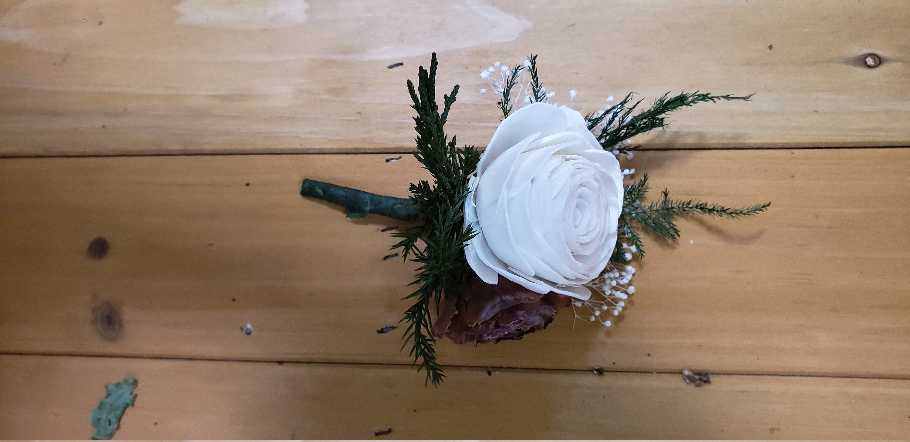 Winter Rose Boutonniere