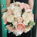 Blush and Ivory English Rose Bouquet