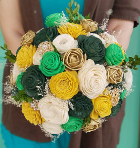 Yellow, Green, and Gold Sola Bouquet