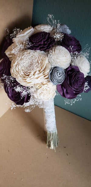 Plum and Silver Bouquet