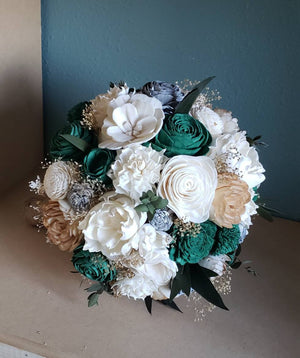 Emerald Dark Green Bouquet